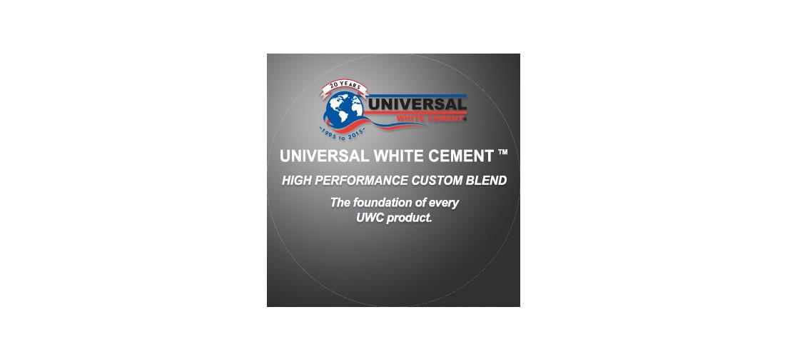 Universal White Cement logo globe